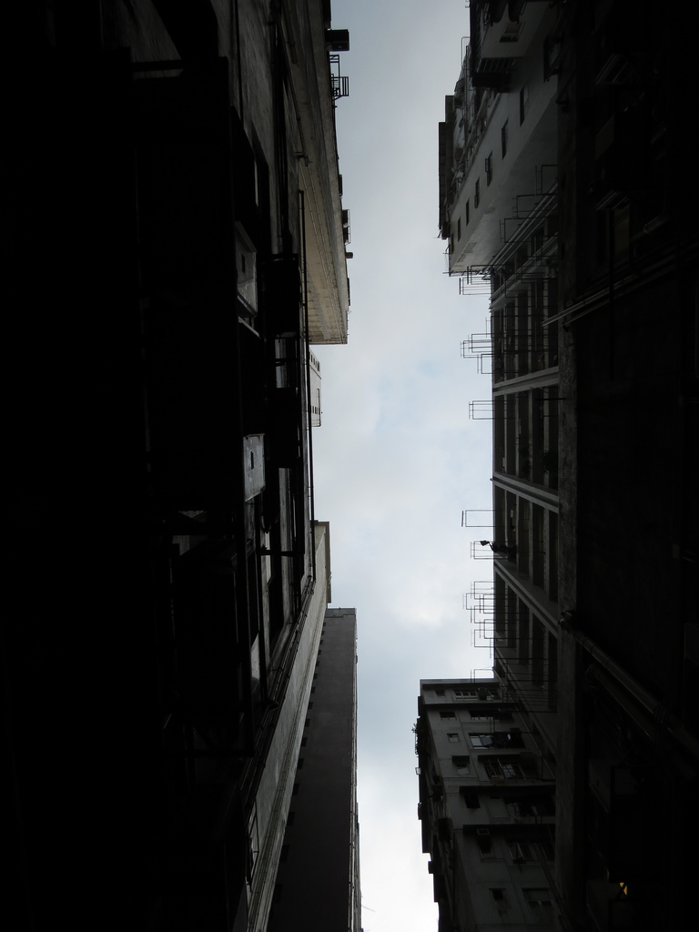 Hong Kong Alley Looking Up