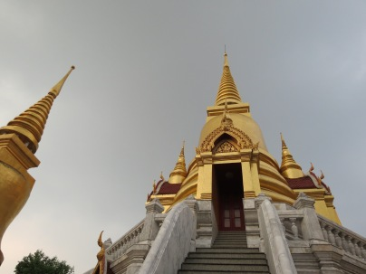 Looking up at a wat's spire