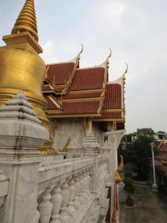 A wat roof and spire