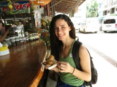Breakfast at the floating market