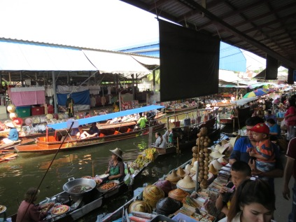 Floating market from the banks