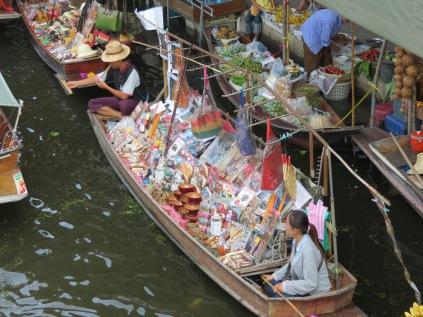 A floating market vendor