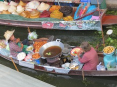 Thai food sold from a boat