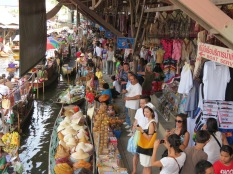 Crowded shops