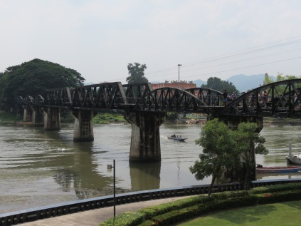 The bridge that spans the Kwae Yai River