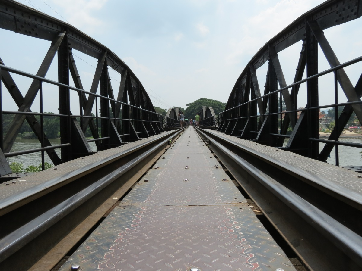 On the bridge that spans the Kwae Yai River