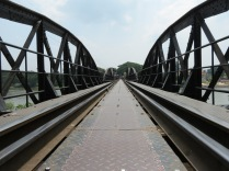 On the bridge that spans the Kwae Yai River